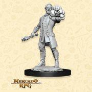Human Male Warlock B - Miniatura RPG