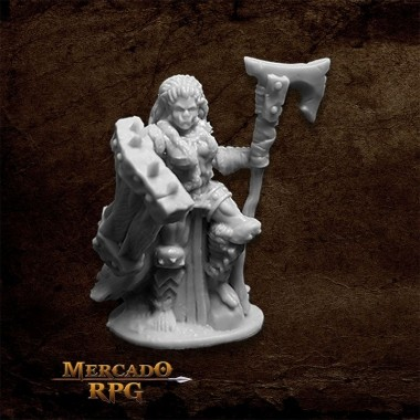 Jade Fire Chieftain - Miniatura RPG