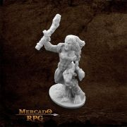 Jade Fire Warrior - Miniatura RPG