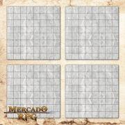Kit de Grid Riscável A (Com Caixa / Bandeja de dados) - RPG Battle Grid D&D