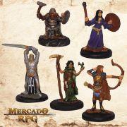 Kit Aventureiros C - Miniatura RPG