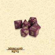 Kit Completo de Dados RPG - Crimson Queen