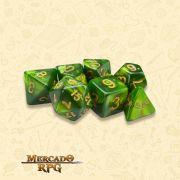 Kit Completo de Dados RPG - Jade Oil