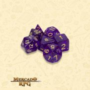 Kit Completo de Dados RPG - Midnight Nebula