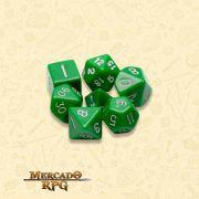 Kit Completo de Dados RPG - Opaque Green