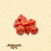 Kit Completo de Dados RPG - Opaque Orange