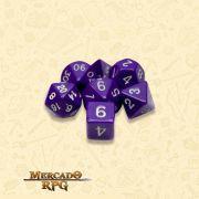 Kit Completo de Dados RPG - Opaque Purple