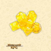 Kit Completo de Dados RPG - Translucent Yellow