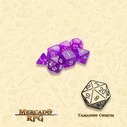 Kit Completo de Mini Dados RPG - Arcane Aura