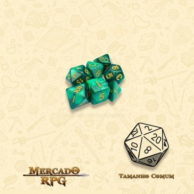 Kit Completo de Mini Dados RPG - Basilisk Blood