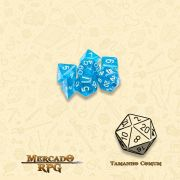 Kit Completo de Mini Dados RPG - Diamond Dust