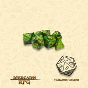 Kit Completo de Mini Dados RPG - Jade Oil