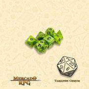 Kit Completo de Mini Dados RPG - Swamp Ooze