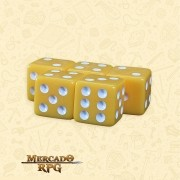 Kit de Dados d6 Miami Dice - Laranja Opaco - RPG