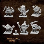 Kit Miniaturas Dices Adventures - Miniatura RPG
