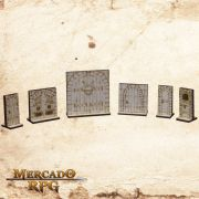 Kit Portas Dungeon 3D - RPG Battle Grid D&D