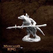 Lizardman Spearman - Miniatura RPG