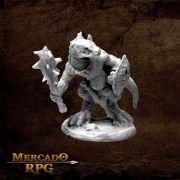 Lizardman w/ Club and Shield - Miniatura RPG
