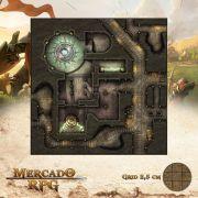 Magnificente Templo de Gebinn 50x50 - RPG Battle Grid D&D