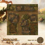 Marco do Entreposto 50x50 - RPG Battle Grid D&D