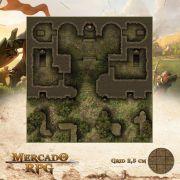 Mausoléu da Perdição - Entrada 50x50 - RPG Battle Grid D&D