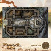 Monastério da Ordem Sagrada 50x75 - RPG Battle Grid D&D