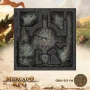 Monastério das Lamúrias - Salões 50x50 - RPG Battle Grid D&D