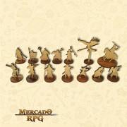 Heróis - Miniaturas MDF - RPG