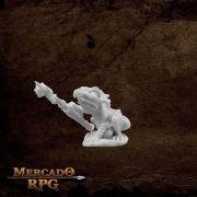 Mudcroak, Frogman Shaman - Miniatura RPG
