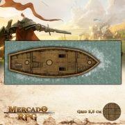 Navio Pirata Piso Médio 65x25 - RPG Battle Grid D&D