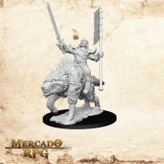 Orc on Dire Wolf - Miniatura RPG