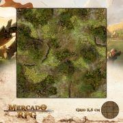 Pântanos Ardentes 50x50 - RPG Battle Grid D&D