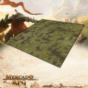 Planície A 120x120 (Com Grid) - Battle Grid Wargame