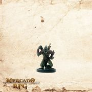 Poison Dusk Lizardfolk  - Com carta - Miniatura RPG