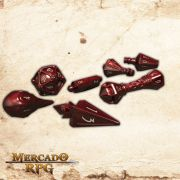 PolyHero Dice Dados RPG Heartwood With Moonsilver