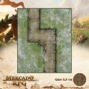 Ponte do Pantâno 25x30 - RPG Battle Grid D&D