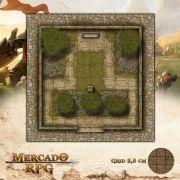 Praça do Jardim 25x25 - RPG Battle Grid D&D