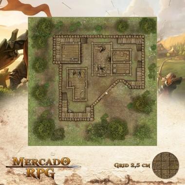 Refúgio dos Bandidos - Verão 50x50 - RPG Battle Grid D&D