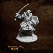 Rheagar, Male Fighter - Miniatura RPG