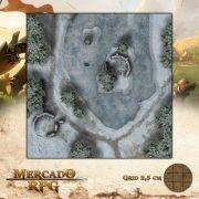 Lago Congelado 50x50 - RPG Battle Grid D&D