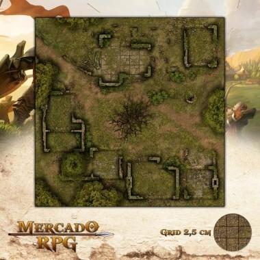 Ruínas da Aldeia 50x50 - RPG Battle Grid D&D