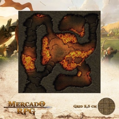 Salões Fumegantes 50x50 - RPG Battle Grid D&D