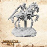 Skeleton Knight on Horse - Miniatura RPG