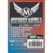 "Sleeves Mayday ""Police Precinct"" Card Sleeves - Ultra Fit (63.5x92mm) - Standard Protection (100 sleeves per pack)"