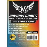 """Sleeves Mayday """"Race! Formula 90"""" Card Sleeves - Ultra Fit (55x80mm) - Standard Protection (Com 100 protetores de cartas)"""