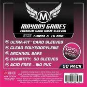 Sleeves Mayday Square Card Sleeves - Small (70x70mm) - Premium Protection (Com 50 protetores para cartas)