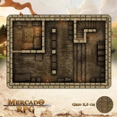 Taverna - Porão 25x17,5 - RPG Battle Grid D&D