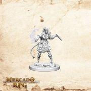 Tiefling Female Sorcerer A - Miniatura RPG
