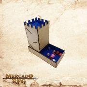 Torre de dados dobrável - azul