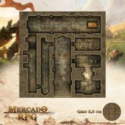 Tumba do Rei Louco 50x50 - RPG Battle Grid D&D
